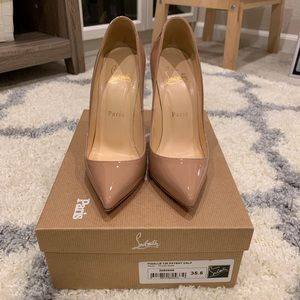 Christian Louboutin 120 Pigalle 35.5 Nude Auth